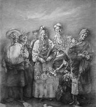 《祥云》纸本素描 2010年