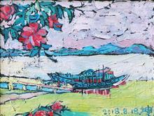 07 坤坤作品《鼓浪屿黄家渡》30x40cm 布面油画 2018年