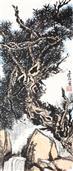 《松泉》224x97cm 纸本水墨 2017年
