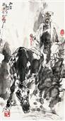 《秋霜》50x28cm 写意人物 高士图 纸本设色 2012年