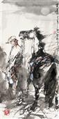 《霜晨月》70x35cm 写意人物 高士图 纸本设色 2013年