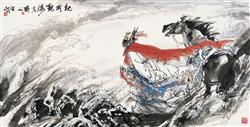 《魏武观海》68x136cm 写意人物 高士图 纸本设色 2012年