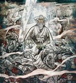 《一代完人黄道周》520x410cm 写意人物 高士图 纸本设色 2010年
