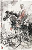 《长河古吟图》97x65cm 写意人物 高士图 纸本设色 2013年