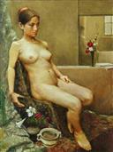 《人体写生》80x60cm 油彩 亚麻布 2005年