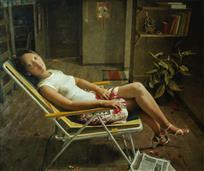 《凤铃》100x120cm 油彩 亚麻布 2007年