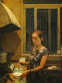 《厨房》80x60cm 油彩 亚麻布 2008年