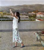 《城市之光》150x130cm 油彩 亚麻布 2016年
