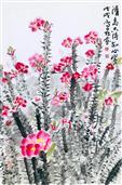 《台上花开又一季,台下风雨几时起·铁海棠(法国)》68×45cm 纸本水墨 写意欧洲风情 2018年.JPG