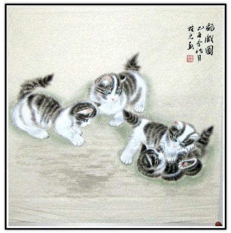 高中单体小动物素描画